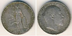 2 Shilling United Kingdom of Great Britain and Ireland (1801-1922) Silver Edward VII (1841-1910)