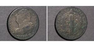 2 Sol Kingdom of France (843-1791) Bronze Louis XVI de France (1754 - 1793)