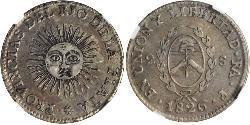 2 Sol Vereinigte Provinzen des Río de la Plata (1810 -1831) Silber