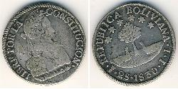 2 Sol Plurinational State of Bolivia (1825 - ) Silver