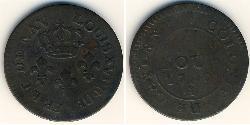 2 Sou 法屬圭亞那 銅 路易十六 (1754 - 1793)