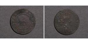 2 Sou French Guiana Copper Louis XVI of France (1754 - 1793)