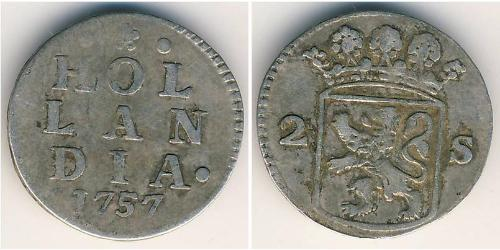 2 Stiver Republik der Sieben Vereinigten Provinzen (1581 - 1795) Silber