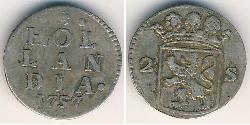 2 Stiver Dutch Republic (1581 - 1795) Silver
