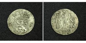 2 Stuiver Нидерланды Серебро