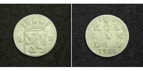 2 Stuiver 荷兰 銀