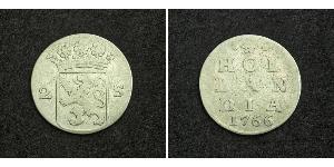 2 Stuiver Niederlande Silber