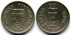 2 Tanga Portuguese India (1510-1961) Copper/Nickel