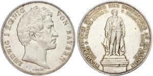 2 Thaler 巴伐利亞王國 (1806 - 1918) 銀 路德维希一世 (巴伐利亚)