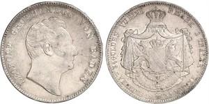 2 Thaler 巴登大公國 (1806 - 1918) 銀 利奥波德 (巴登)