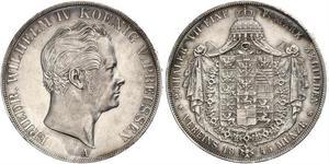 2 Thaler 普魯士王國 (1701 - 1918) 銀 腓特烈·威廉四世 (1795 - 1861)