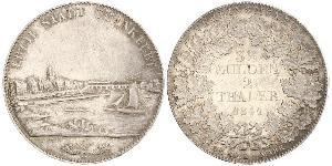 2 Thaler 法蘭克福自由市 銀