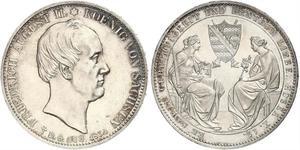 2 Thaler 萨克森王国 (1806 - 1918) 銀 弗里德里希·奥古斯特二世