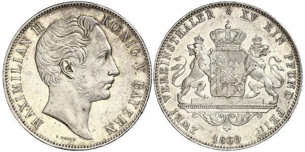 2 Thaler Électorat de Bavière (1623 - 1806) Argent