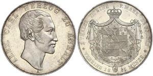 2 Thaler Anhalt-Bernbourg (1603 - 1863) Argent Alexandre-Charles d