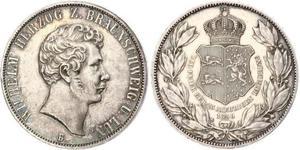 2 Thaler Duché de Brunswick (1815 - 1918) Argent Guillaume de Brunswick