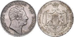 2 Thaler Grand-duché de Bade (1806-1918) Argent Léopold Ier de Bade(1790 – 1852)