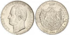 2 Thaler Grand-duché de Hesse (1806 - 1918) Argent Louis II de Hesse