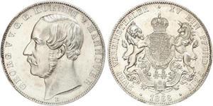 2 Thaler Royaume de Hanovre (1814 - 1866) Argent Georges V de Hanovre (1819 - 1878)
