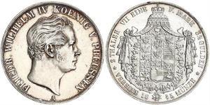 2 Thaler Royaume de Prusse (1701-1918) Argent Frédéric-Guillaume IV de Prusse (1795 - 1861)