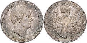 2 Thaler Royaume de Saxe (1806 - 1918) Argent Frédéric-Auguste II de Saxe