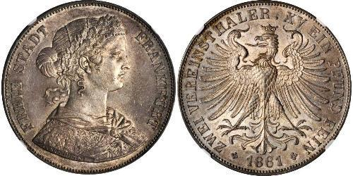 2 Thaler States of Germany Argent