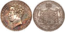 2 Thaler Anhalt-Dessau (1603 -1863) Argento Leopoldo IV di Anhalt-Dessau (1794 – 1871)