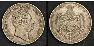 2 Thaler Grand Duchy of Baden (1806-1918) Argento Leopoldo di Baden(1790 – 1852)