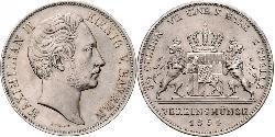 2 Thaler Regno di Baviera (1806 - 1918) Argento Massimiliano II di Baviera(1811 - 1864)