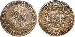 2 Thaler Habsburg Empire (1526-1804) Plata Rodolfo II (1552 - 1612)