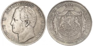 2 Thaler Hesse-Darmstadt (1806 - 1918) Plata Luis II de Hesse-Darmstadt