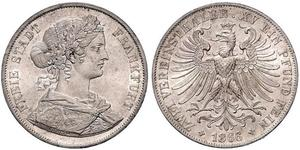 2 Thaler States of Germany Plata