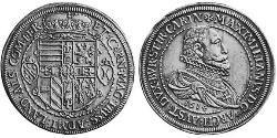 2 Thaler Elsass Silber Maximilian III. (Vorderösterreich) (1558 – 1618)