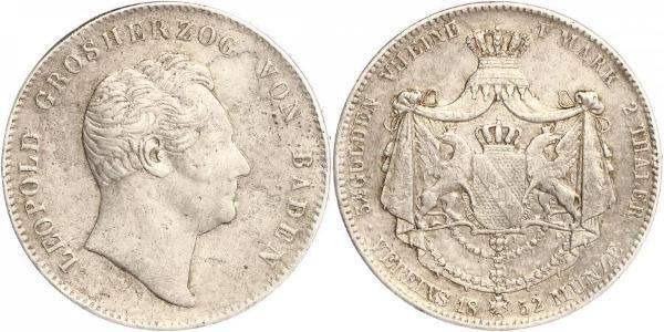 2 Thaler Grand Duchy of Baden (1806-1918) Silber Leopold (Baden)(1790 – 1852)