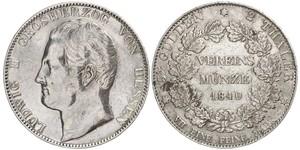 2 Thaler Großherzogtum Hessen (1806 - 1918) Silber Ludwig II. (Hessen-Darmstadt)