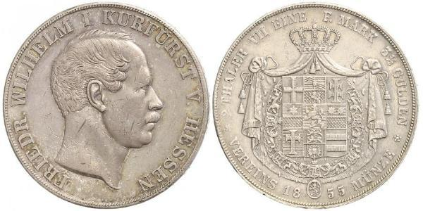 2 Thaler Großherzogtum Hessen (1806 - 1918) Silber Friedrich Wilhelm I. (Hessen-Kassel) (1802 - 1875)