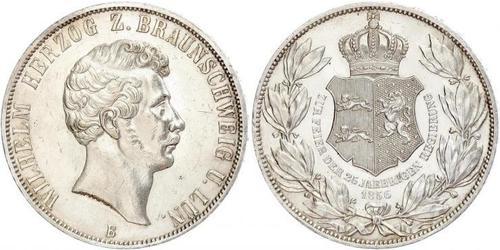 2 Thaler Herzogtum Braunschweig (1815 - 1918) Silber Wilhelm (Braunschweig)