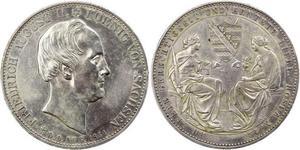 2 Thaler Königreich Sachsen (1806 - 1918) Silber Friedrich August II. (Sachsen)