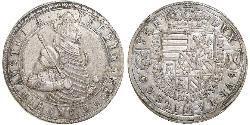 2 Thaler Alsace Silver Ferdinand II, Archduke of Austria (1529 – 1595)