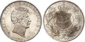 2 Thaler Duchy of Brunswick (1815 - 1918) Silver William, Duke of Brunswick