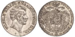 2 Thaler Duchy of Brunswick (1815 - 1918) Silver William, Duke of Brunswick