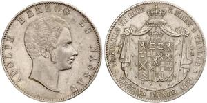 2 Thaler Duchy of Nassau (1806 - 1866) Silver Adolphe, Grand Duke of Luxembourg