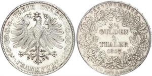 2 Thaler Free City of Frankfurt Silver