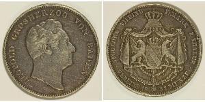 2 Thaler Grand Duchy of Baden (1806-1918) Silver Leopold, Grand Duke of Baden (1790 – 1852)