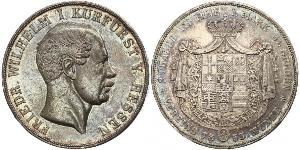 2 Thaler Grand Duchy of Hesse (1806 - 1918) Silver Frederick William, Elector of Hesse (1802 - 1875)