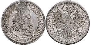 2 Thaler Holy Roman Empire (962-1806) Silver Leopold I, Holy Roman Emperor (1640-1705)