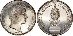 2 Thaler Kingdom of Bavaria (1806 - 1918) Silver Ludwig I of Bavaria (1786 – 1868)