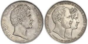 2 Thaler Kingdom of Bavaria (1806 - 1918) Silver Ludwig I of Bavaria (1786 – 1868)