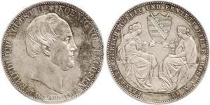 2 Thaler Kingdom of Saxony (1806 - 1918) Silver Frederick Augustus II of Saxony