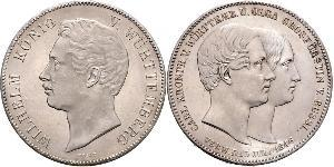 2 Thaler Kingdom of Württemberg (1806-1918) Silver William I of Württemberg